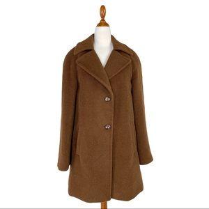 Katherine Kelly Brown Alpaca Wool Swing Coat 4